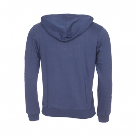 Sweat à capuche Best Mountain bleu marine floqué en gris