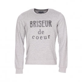 Sweat Best Mountain gris chiné floqué