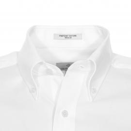 Chemise droite Gant en coton blanc, tissage pinpoint oxford