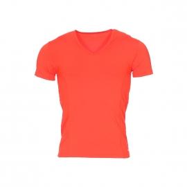 Tee-shirt col V Impetus Sport Airflow Ergonomic en polyamide stretch orange