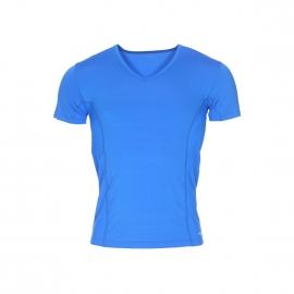 Tee-shirt col V Impetus Sport Airflow Ergonomic en polyamide stretch bleu roi