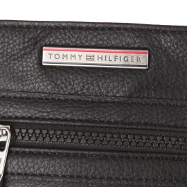Sacoche Tommy Hilfiger en simili-cuir noir