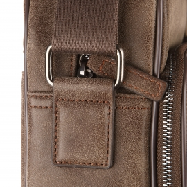 Porte-ordinateur/documents Chabrand marron clair aspect cuir velours