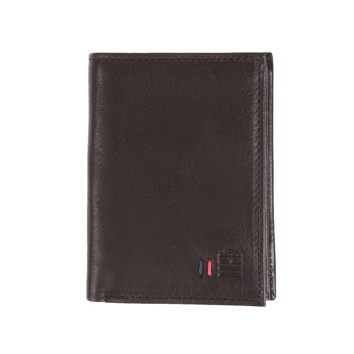 Grand portefeuille européen Serge Blanco en cuir noir à 4 volets dont 1 amovible OKW6Ykbsj