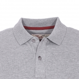 Polo Chevignon en coton pima stretch gris chiné
