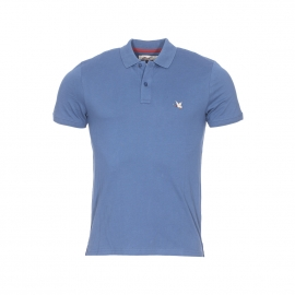Polo Chevignon en coton pima stretch bleu pétrole