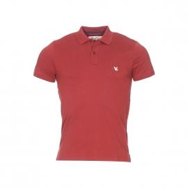 Polo Chevignon en coton pima stretch rouge brique