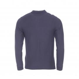 Polo manches longues Chevignon en coton pima à maille piquée bleu marine