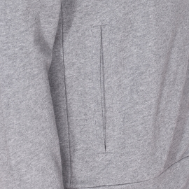 Sweat zippé à capuche Chevignon en coton gris chiné