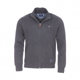 Gilet zippé Sacker Gant en coton gris anthracite
