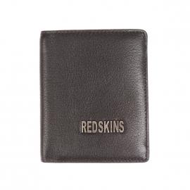 Petit Portefeuille européen Redskins Barry en cuir noir