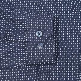 Chemise droite Ben Sherman en coton bleu marine à petits motifs