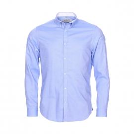Chemise droite Gentleman Farmer en coton bleu ciel, tissage fil à fil
