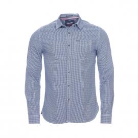 Chemise ajustée Superdry en coton à carreaux bleus et blancs