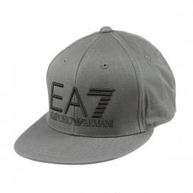 Casquette EA7 en coton kaki brodée en noir