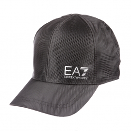 Casquette EA7 noire effet quadrillé