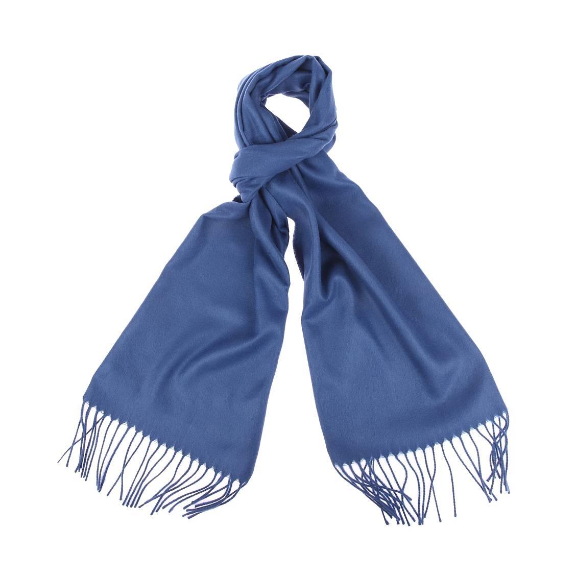 Echarpe douce  bleu indigo