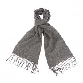 Echarpe Jean Chatel en laine vierge gris chiné