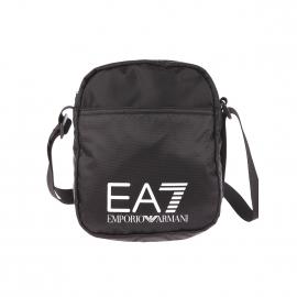 Petite sacoche EA7 en toile noire
