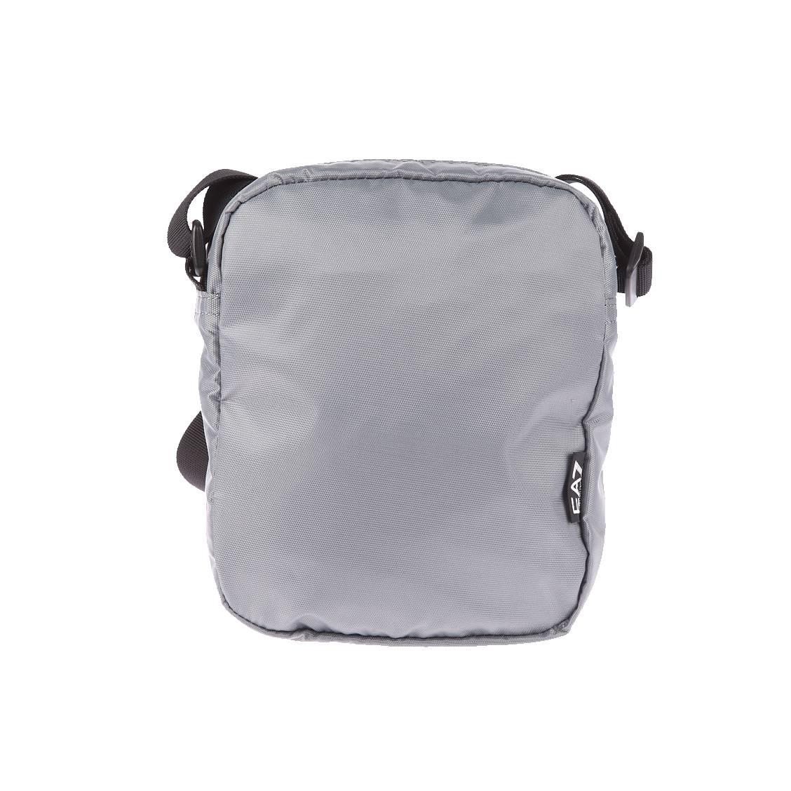 Petite sacoche EA7 en toile gris argenté avec poche avant verticale zippée sqo3ry95