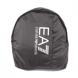 Sac à dos EA7 en toile noire et imprimé à l'avant