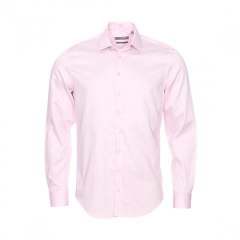 chemise cintr e izac en satin de coton rose p le. Black Bedroom Furniture Sets. Home Design Ideas