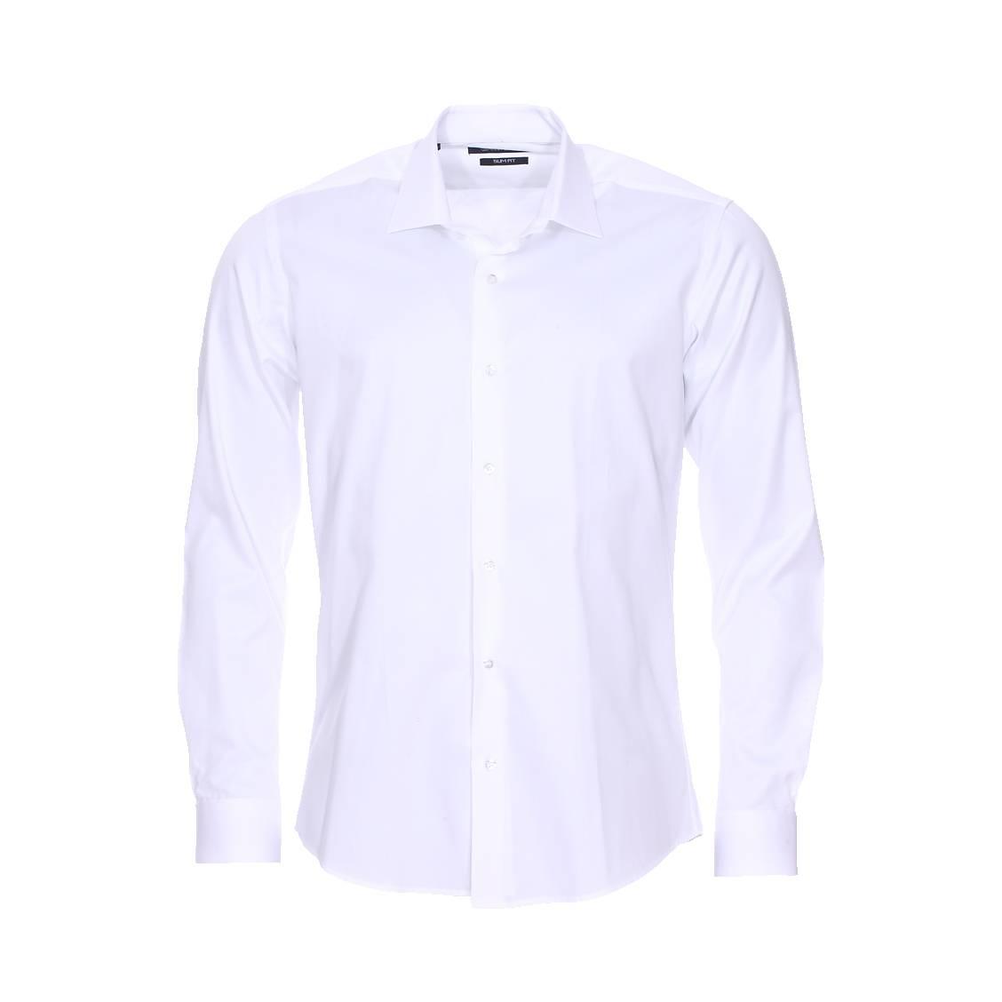 Chemise cintrée  en coton blanc