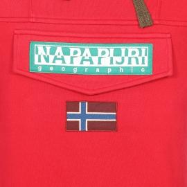 Sweat à capuche Napapijri rouge