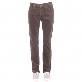 Pantalon droit Pierre Cardin en velours kaki
