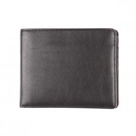 Portefeuille italien Picard en cuir noir à 3 volets