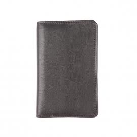 Porte-cartes Picard en cuir noir