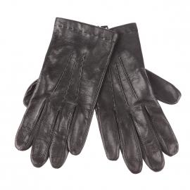 Gants Glove Story en cuir d'agneau noir