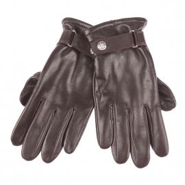 Gants Glove Story en cuir d'agneau marron, à poignets ajustables