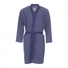 Kimono long Impetus bleu marine à motifs gris