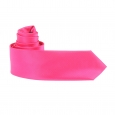 Cravate en microfibres rose fuchsia à fines rayures ton sur ton