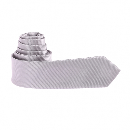 Cravate slim gris souris à fines rayures ton sur ton