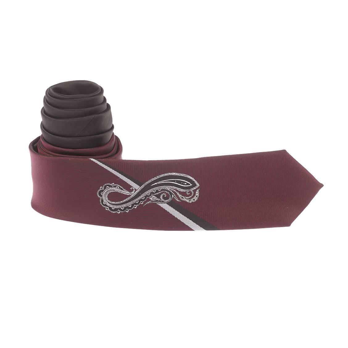 cravate-slim-prune-et-noire-a-motif-cachemire-noir-et-gris