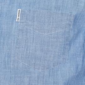 Chemise droite Ben Sherman en chambray bleu clair
