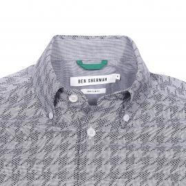 Chemise cintrée Ben Sherman en coton à motif pied de poule