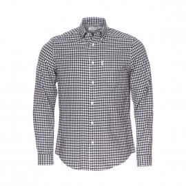 Chemise droite Ben Sherman en coton à carreaux blancs et noirs