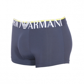Boxer Emporio Armani en polyamide stretch bleu marine