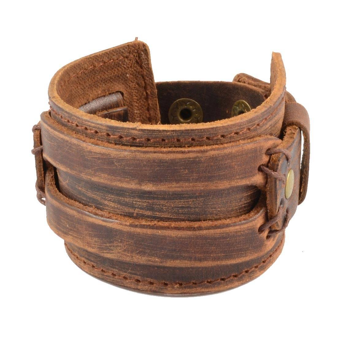 large-bracelet-lucleon-en-cuir-marron-patine