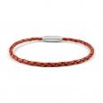 Bracelet Lucléon en cuir tressé marron clair