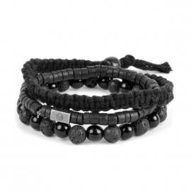 Set de 3 bracelets Lucléon noirs