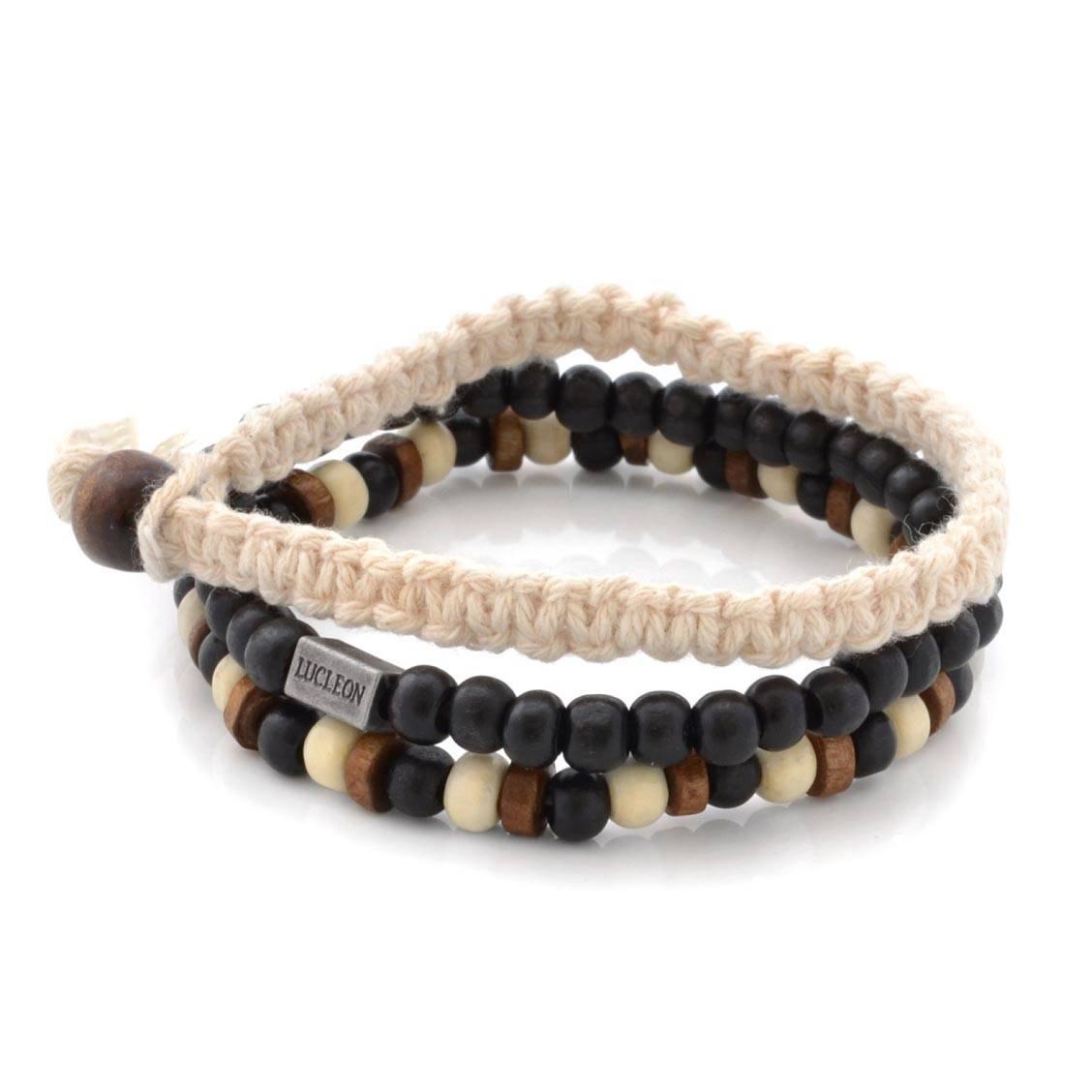 set-de-3-bracelets-lucleon-en-perles-noires-marron-et-beiges-et-coton-beige