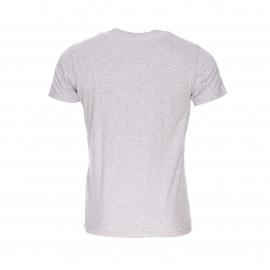 Tee-shirt col rond Hilfiger Denim en coton gris chiné floqué en noir