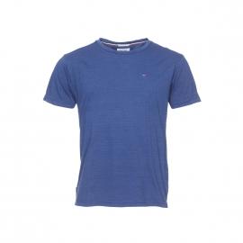 Tee-shirt col rond Hilfiger Denim en coton flammé bleu indigo