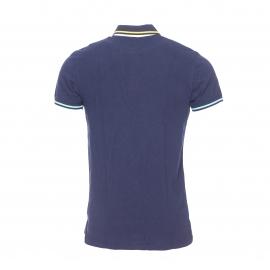 Polo Hilfiger Denim en piqué de coton bleu marine brodé