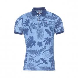 Polo Hilfiger Denim en coton bleu chiné à fleurs bleu indigo