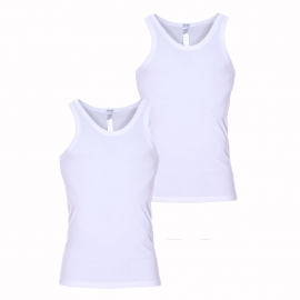Lot de 2 débardeurs Hom Daily cotton blanc